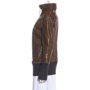 Mackage Jackets & Coats - Mackage Nev Brown Leather Moto Jacket Medium